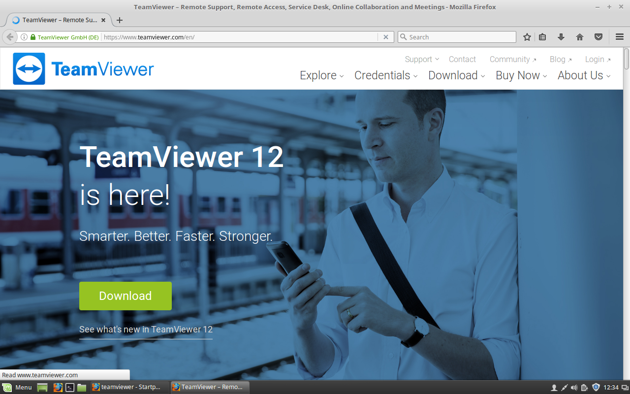 How to install Teamviewer deb file via Terminal